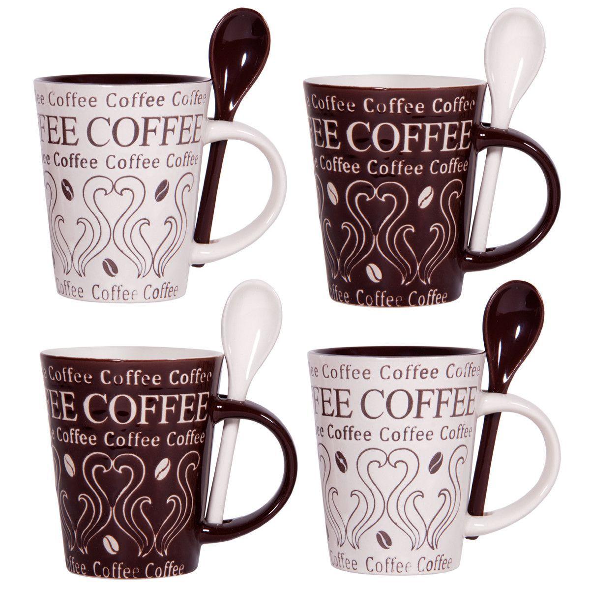 00c46546080 Coffee Swirl 10 oz. Mug and Spoon | Products | Mugs set, Coffee mugs ...