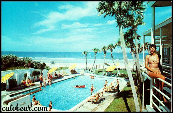 Vintage Postcard Reef Beach Motel Daytona Beach Travel Photos Coastal Travel Daytona Beach Florida