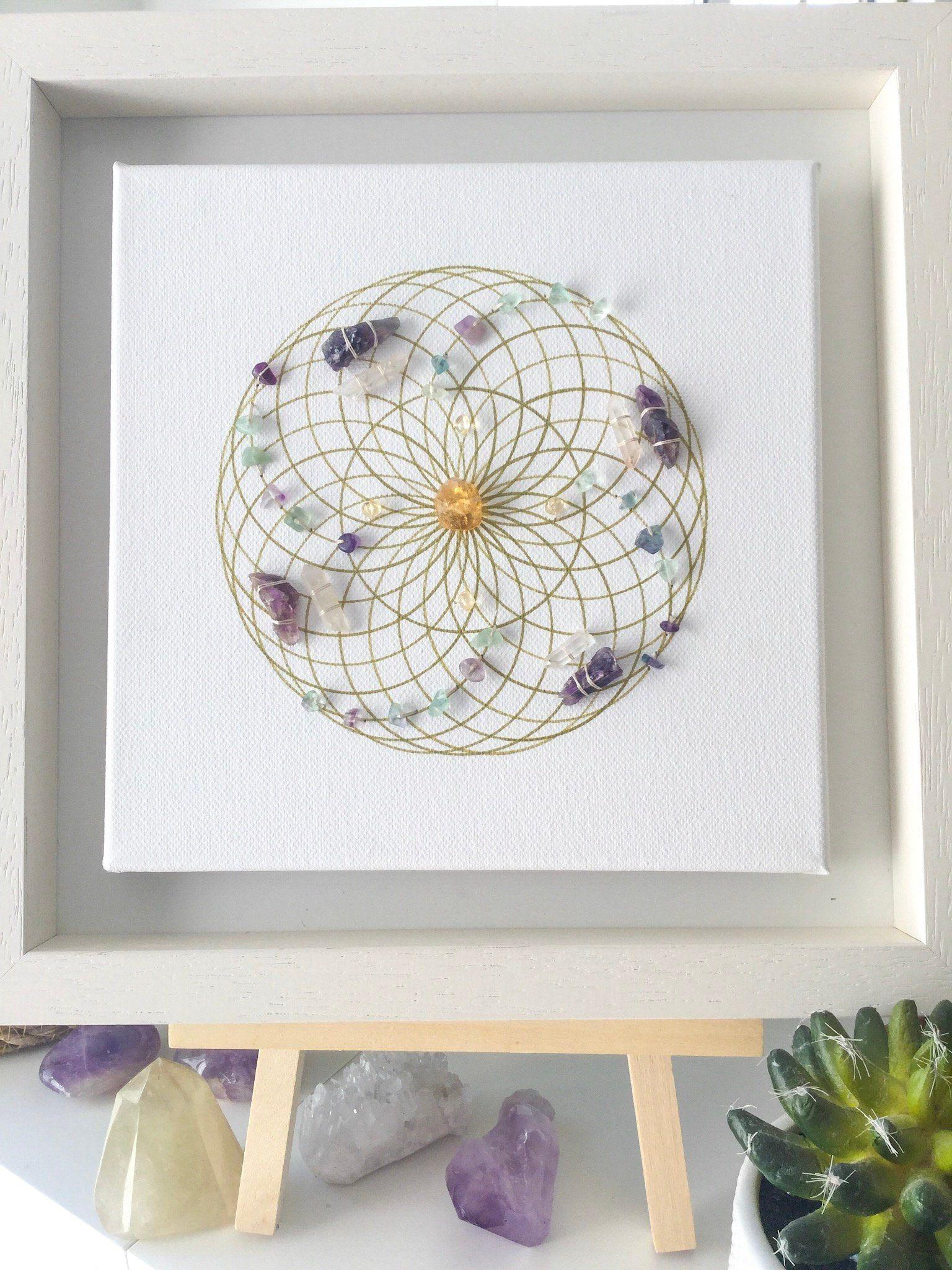 Ask believe receive framed crystal grid energy vortex