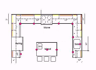 How to high hat lighting recessed in a kitchen kitchen plan measurements advice - Kitchen lighting design layout ...