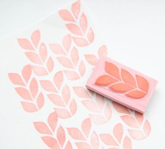Knit Hand Carved Stamp For Acrylic Blocks by hugfishandorange