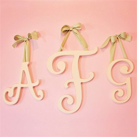 Large Cottage White Cursive Wall Letters