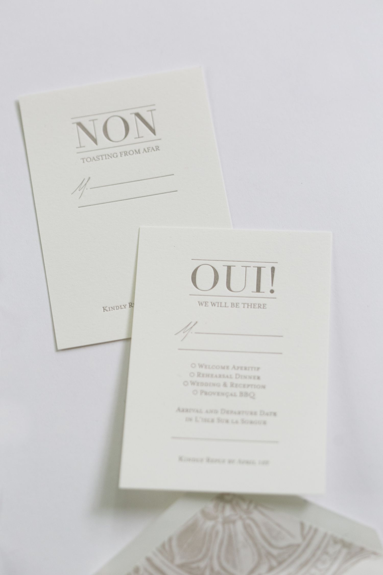 Yonder Design | Reply Cards, Wedding Invitation, French Wedding ...