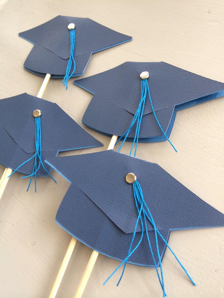 Uncategorized Paper Graduation Caps graduation cap cake toppers floral picks roygbivsetsy paper roygbivsetsy