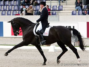 George Williams and floppy eared, Rocher - the best dressage partnership I ever had the pleasure of seeing in person.