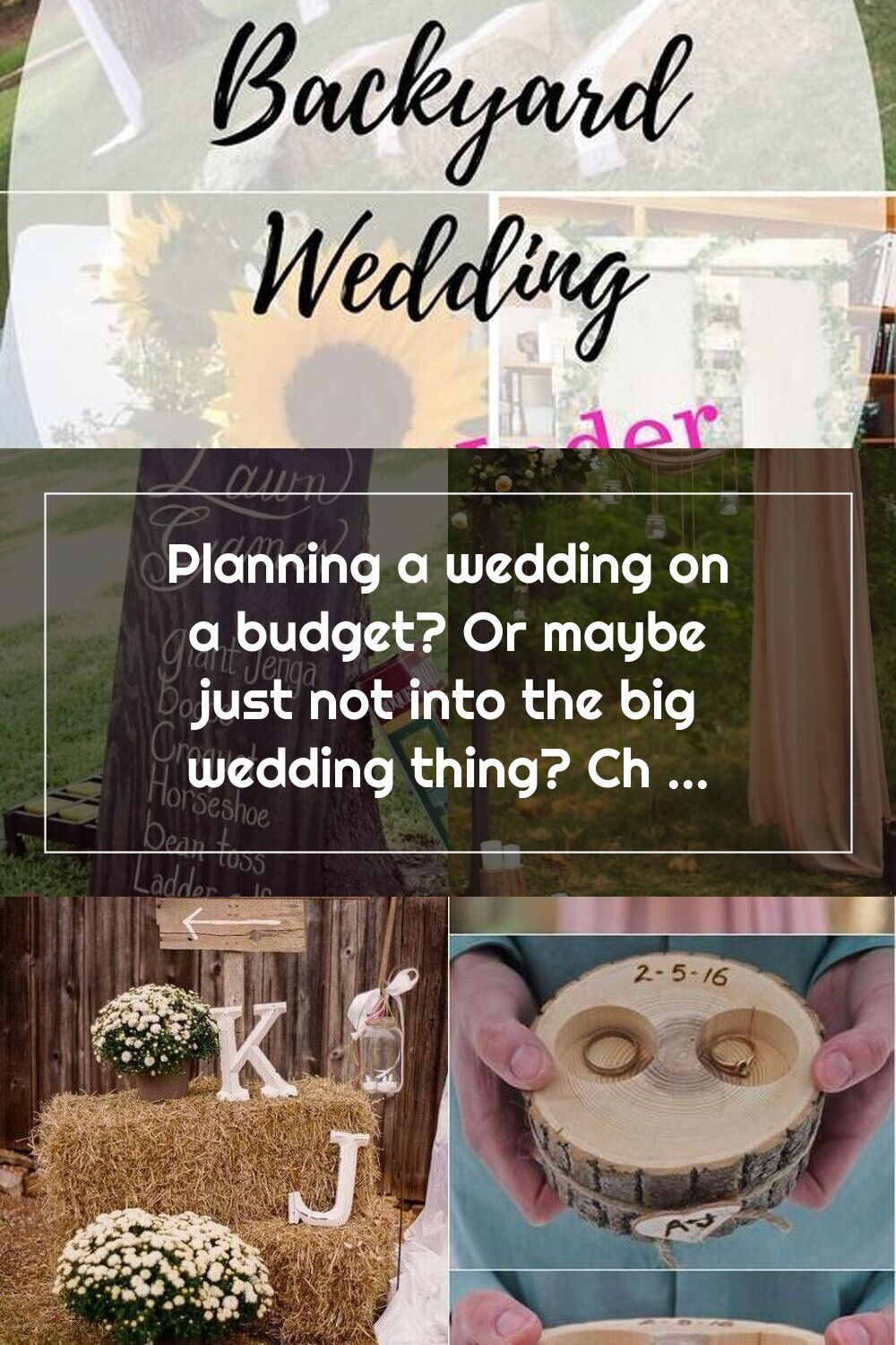 Planning a wedding on a budget? Or maybe just not into the ...