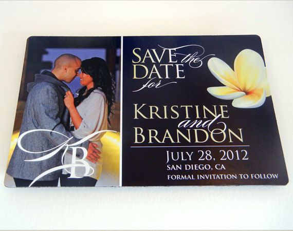 Destination Wedding Save The Date Magnet By SherdellahDesigns