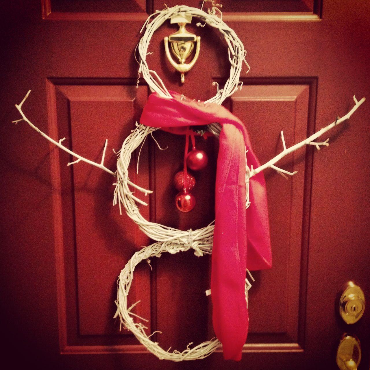 5 snowman wreath from the Dollar Tree! Dollar store