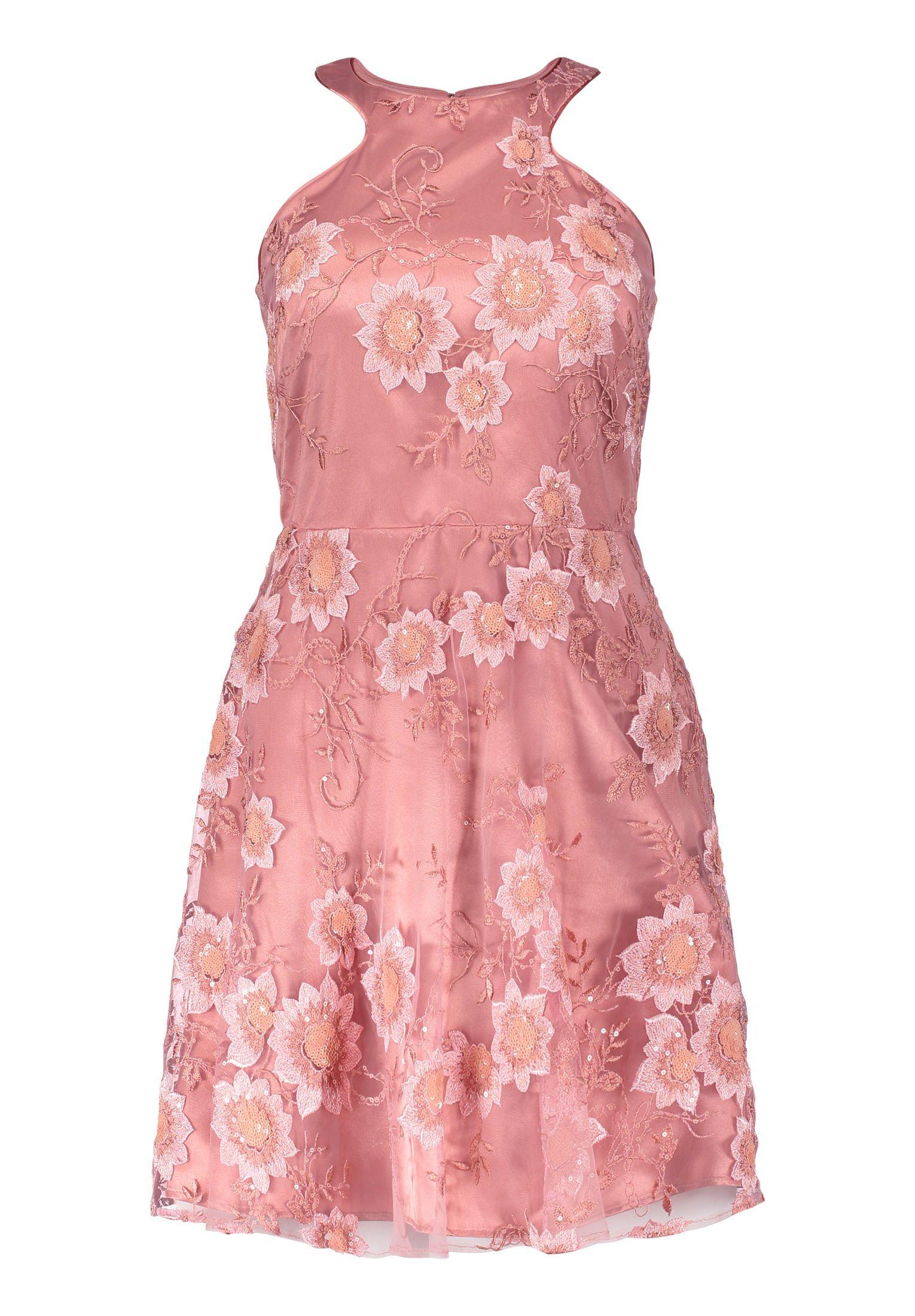 Kleid Mit Blutenstickerei Altrosa Vera Mont Mode Bosckens