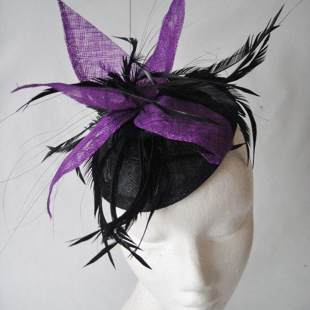 Black Purple Fascinator For Evil Queen (Snow White)  17c53c359b1