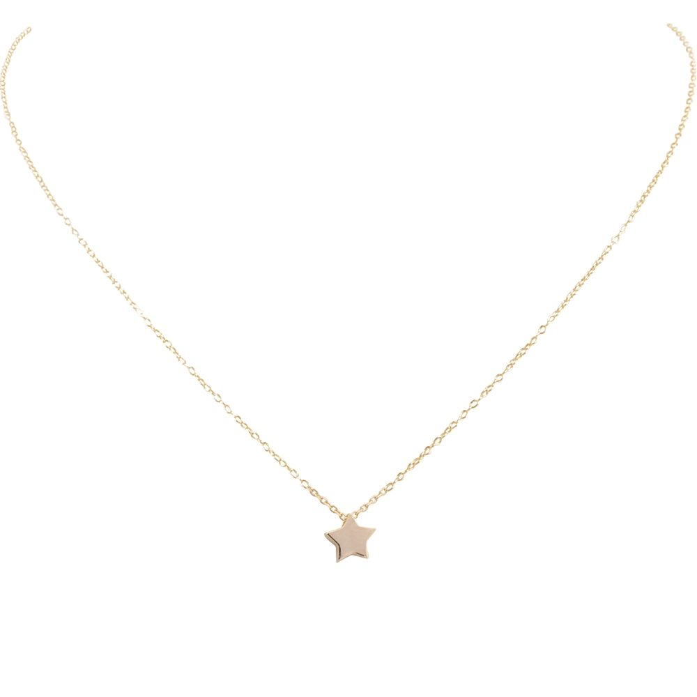 star tiny chain metal gold mixed filled cropped silver necklace dsc sterling small products and