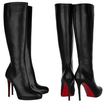 75280da3a2c Christian Louboutin Black Leather Bianca Boots/Booties Size US 5 ...