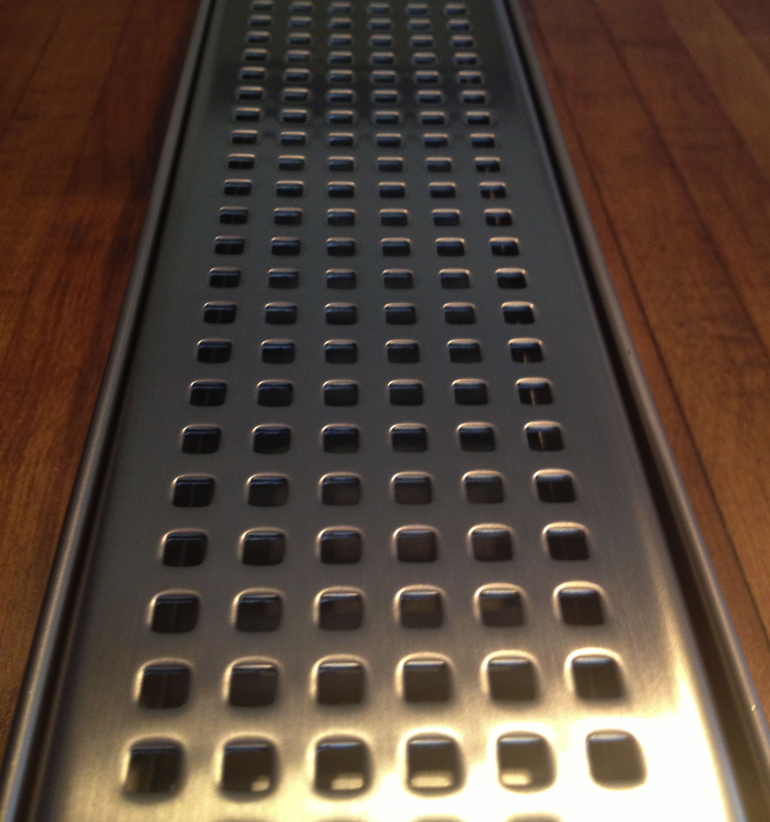 Luxe Linear Shower Drain Pattern Grate 100 Stainless Steel