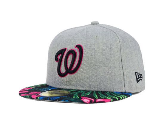 15e43869 Washington Nationals Floral Mashup 59Fifty Fitted Cap by NEW ERA x MLB