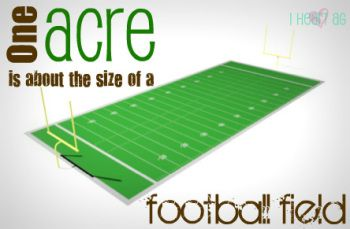 Did You Know That One Acre Is About The Size Of A Football Field