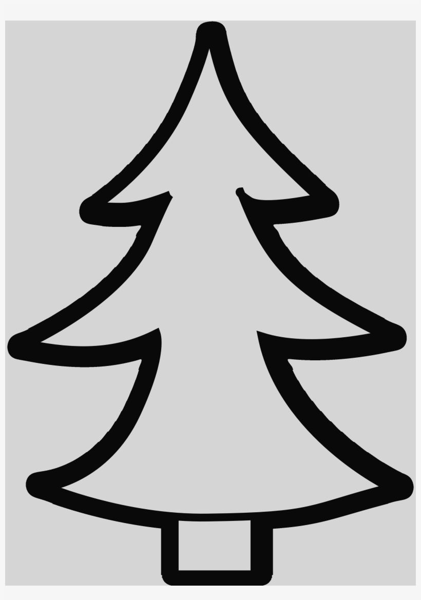 Trees Clipart Black And White Clipart Black And White Christmas Tree Drawing Tree Clipart
