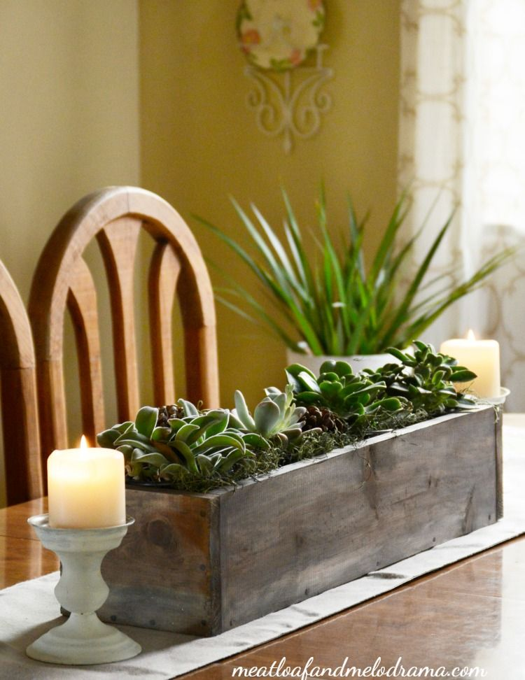 Easy Succulent Centerpiece Succulent Centerpieces Spring Decor Dining Table Centerpiece