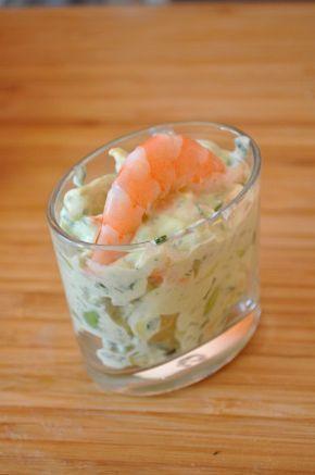 Salade fraicheur avocat crevette