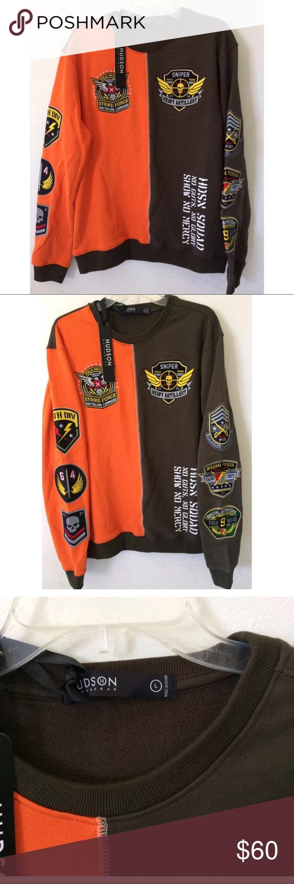Nwt Hudson Outerwear Strike Force Sweater Nwt Hudson Outerwear Strike Force Sweater Color Orange Olive Green Hudson O Clothes Design Fashion Design Fashion [ 1740 x 580 Pixel ]