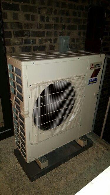 Mitsubishi H2i Hyper Heating Condenser Installed In A Schaumburg