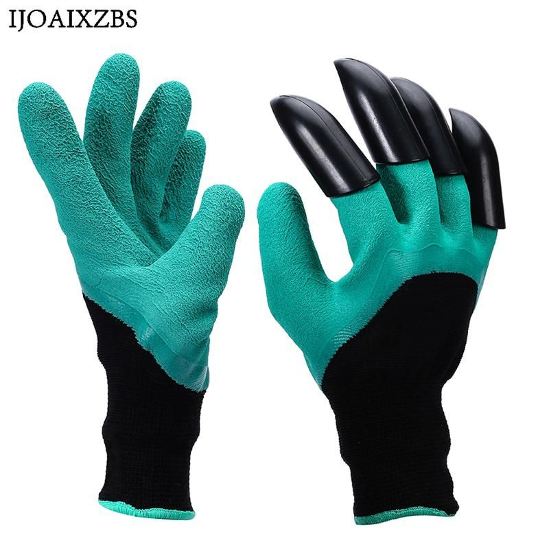 1 Pair Garden Gloves Rubber With Fingers Quick Claws Easy To Dig