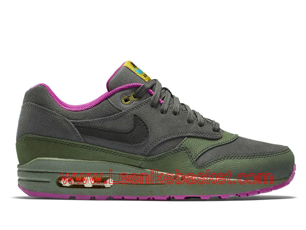 new styles 07e0d 531f5 Basket Homme Nike Air Max 1 LTR Dark Pewter 654466008 Officiel Nike-1603012069  - Les
