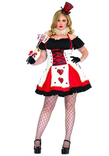 plus size peasant top queen of hearts costume neck piece included