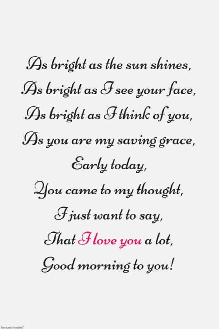 Romantic Good Morning Poems For Him Best Collection David