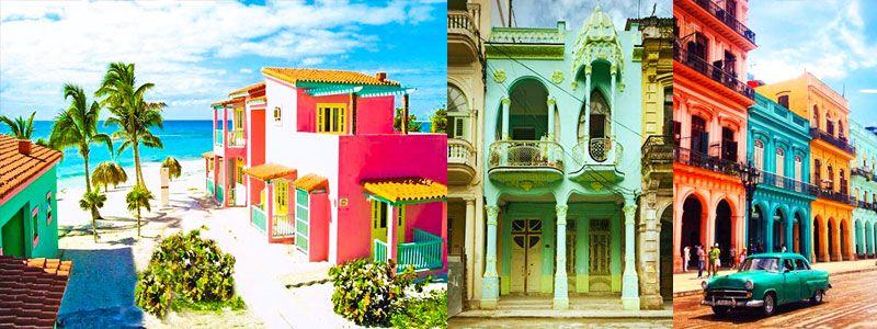 Caribbean colors in Cuba