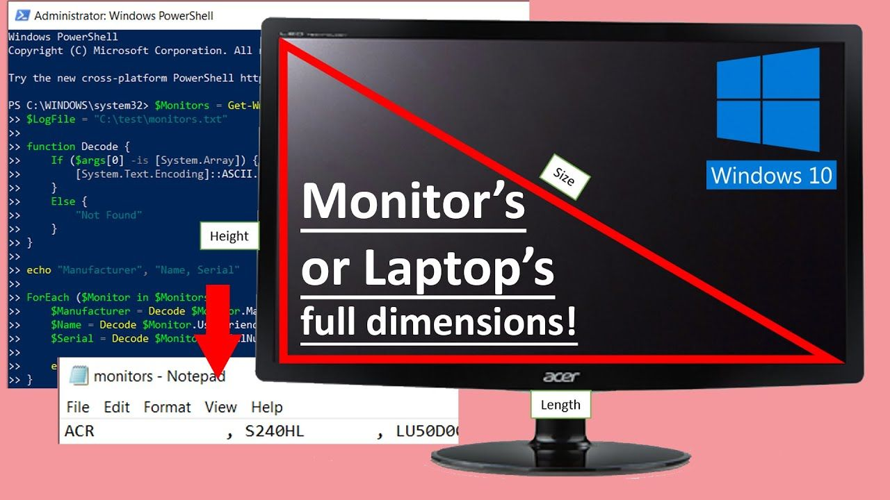 How To Find Monitor Size Windows 10 In 2021 Monitor Windows 10 Windows