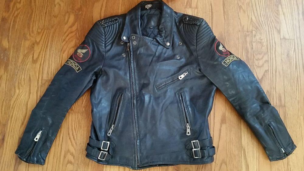Vintage Honda Black Leather Motorcycle Jacket Vintage Outfits Black Leather Motorcycle Jacket Motorcycle Jacket