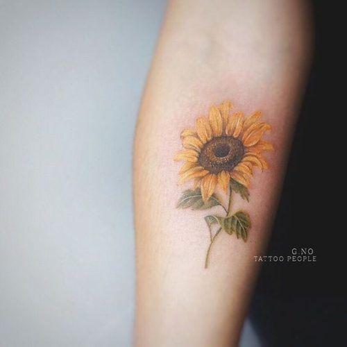 60 Tatuajes De Girasoles Y Su Significadomejores 2018 Pintura