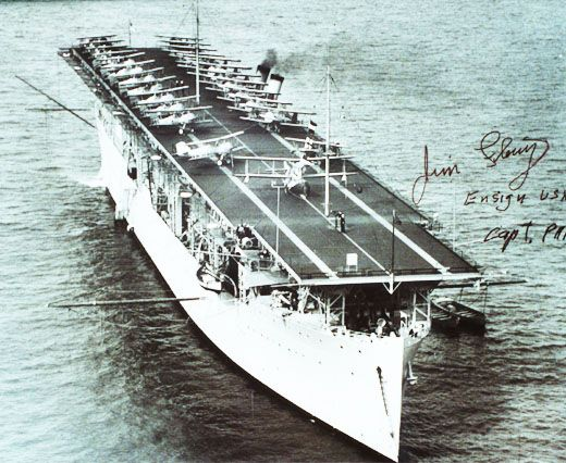 This Day in WWII History: Feb 27, 1942: USS Langley CV-1