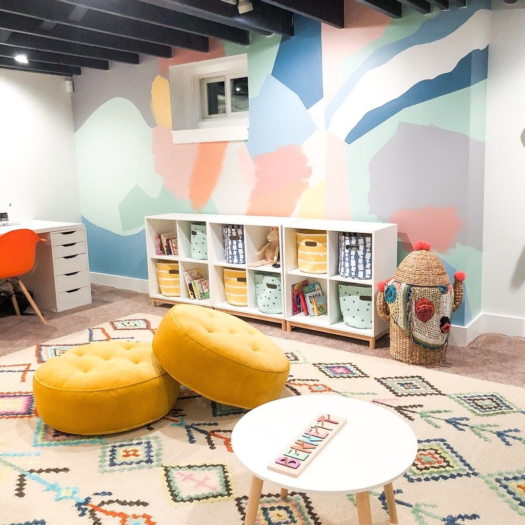 Basement Playroom Reveal & Mural How-To! • Mindful