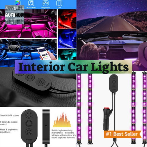 Govee Dreamcolor Car Interior Lights With App And Ir Remote Upgraded 2 In 1 Design 4pcs 72 Leds Int Car Lights Car Interior Lights