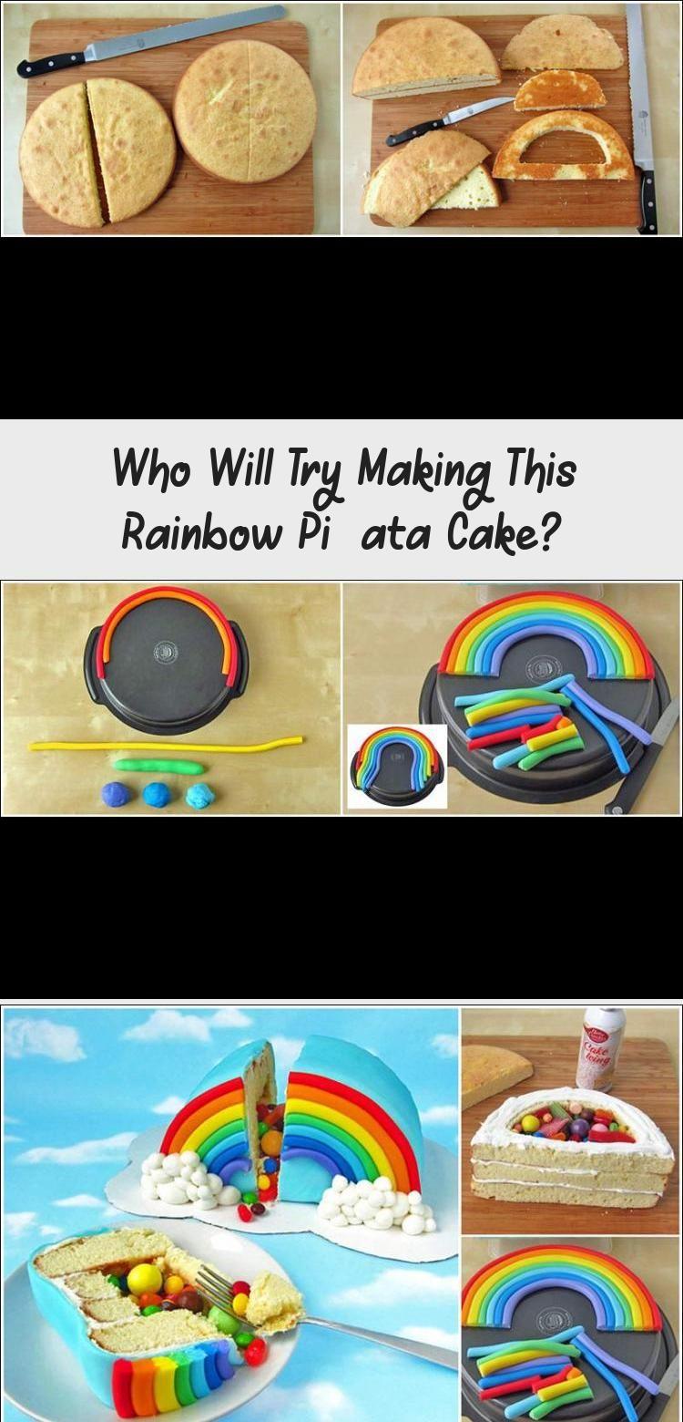 Photo of Who Will Try Making This Rainbow Piñata Cake? #PinataKuchenEinfach #PinataKuche…