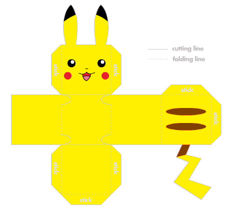 for pokemon fans pikachu origami and more anniversaire pokemon bricolage et decoration. Black Bedroom Furniture Sets. Home Design Ideas