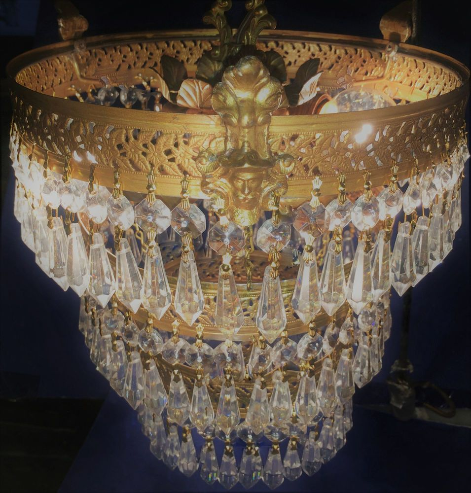 Fine nyc antique art deco 3 tier figural wedding cake crystal fine nyc antique art deco 3 tier figural wedding cake crystal chandelier c1920 artdeco mozeypictures Images
