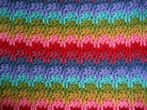 Raindrops Stitch | Deckchen, Häkelmuster und Wolldecke