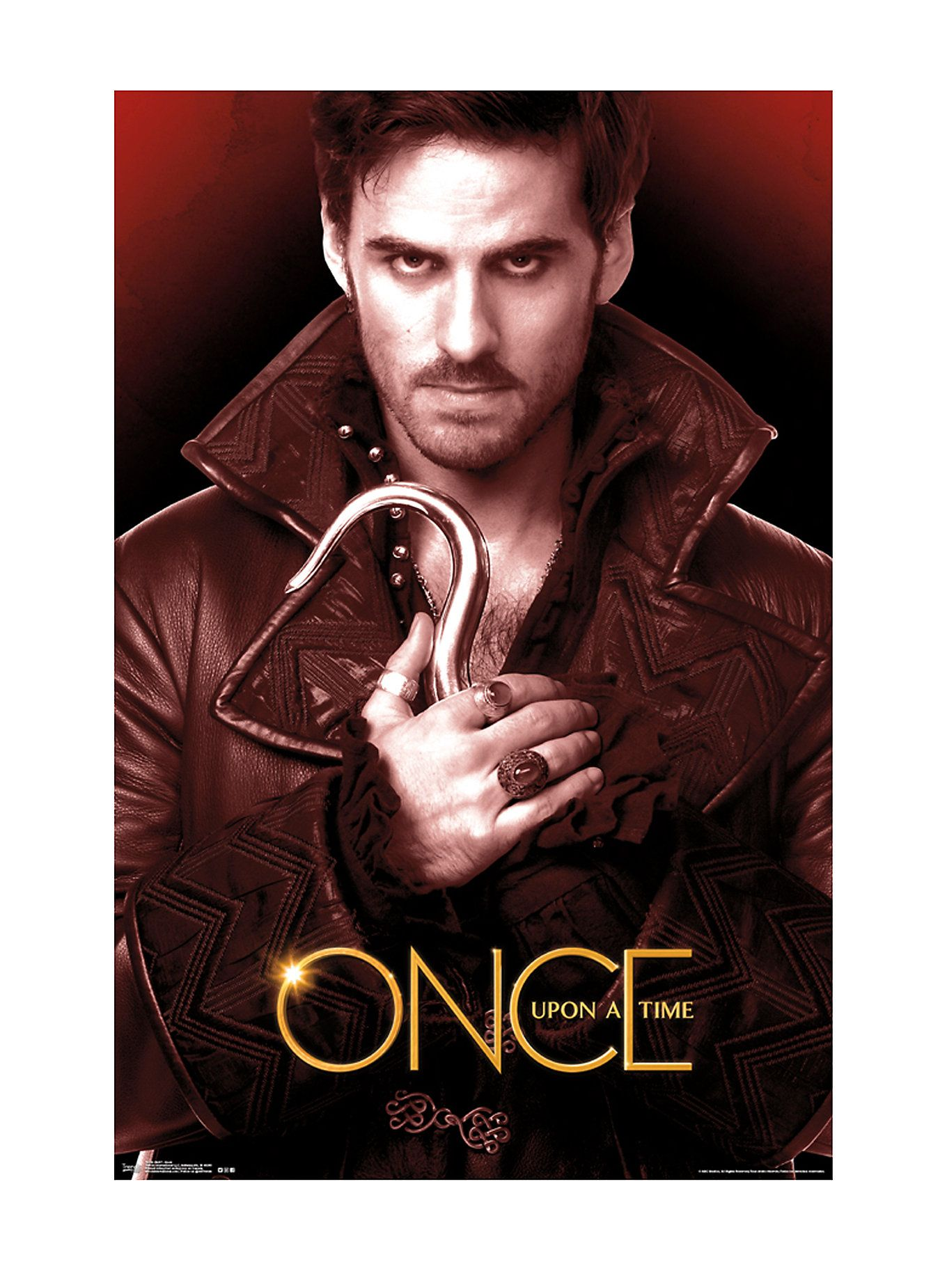Once Upon A Time Hook Poster Hot Topic Posterdrucke