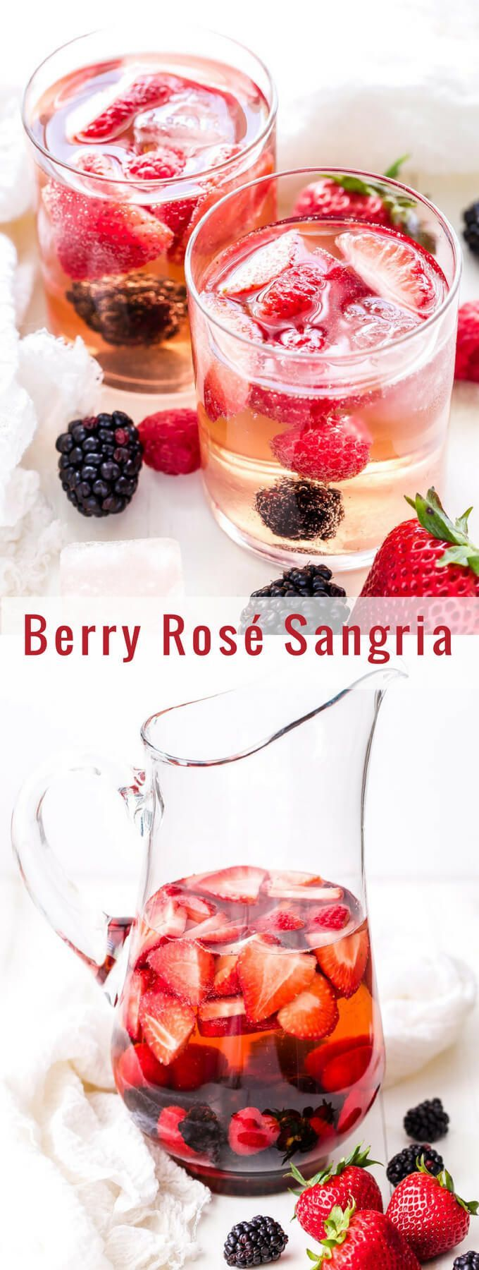 Berry Rose Sangria Is The Perfect Summer Sipper Sweet But Not Too Sweet And Loaded With Fresh Berries It W Sangria Recipes Easy Sangria Recipes Rose Sangria