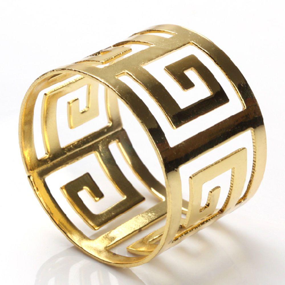 Napkin Ring Serviette Holder Towel Holder Dinnerware For Wedding Banquet Gold  #NapkinRings