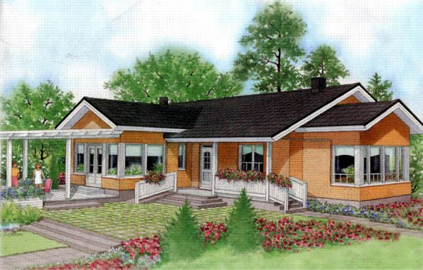 Plano de una gran casa de campo planos casas pinterest for Casa tipo ranch