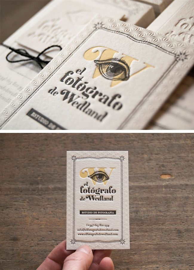 Standing out as a photographer 16 of the best photography business the top 16 photography business cards design ideas letterpress photography business cards for wedding photographer wedland printing by el calotipo reheart Gallery
