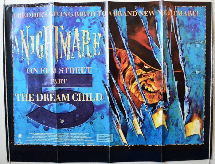 A Nightmare On Elm Street Part 5 : The Dream Child - Original British Quad Movie Poster