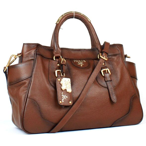 Prada Bags Brown Leather