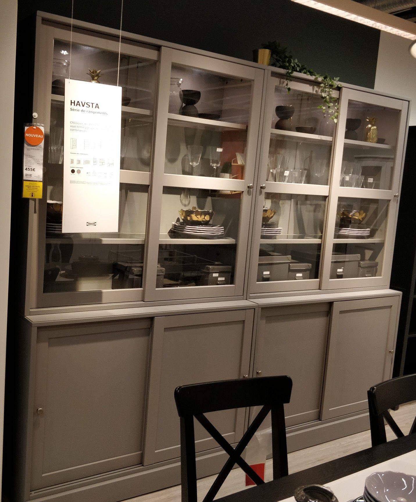 Ikea 2 Meubles Havsta 121x47x212 L Unite 455 Mobilier De Salon