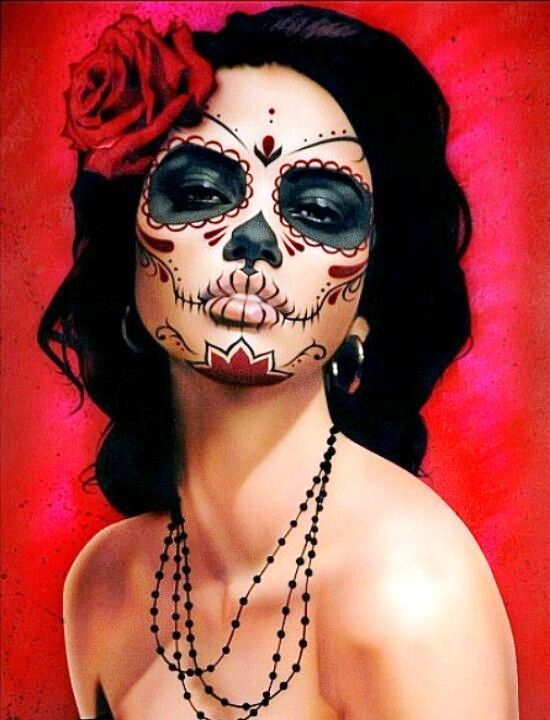 25 Halloween Makeup For Day Of The Dead Day Of The Dead - How-to-do-day-of-the-dead-makeup