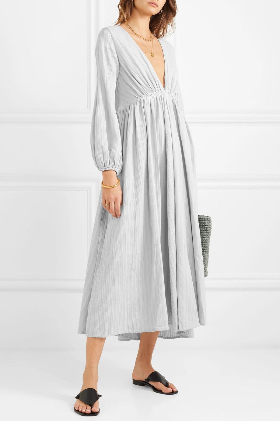 Kalita Aphrodite Cotton Gauze Maxi Dress Net A Porter Com Gauze Maxi Dress Maxi Dress Linen Sundress [ 1380 x 920 Pixel ]