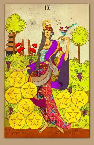 9 of Pentacles - Nusantara Tarot - Rozamira Tarot - Picasa Web Albums